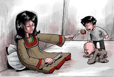یک مادر دو یتیم و یک دنیا حرف . . .